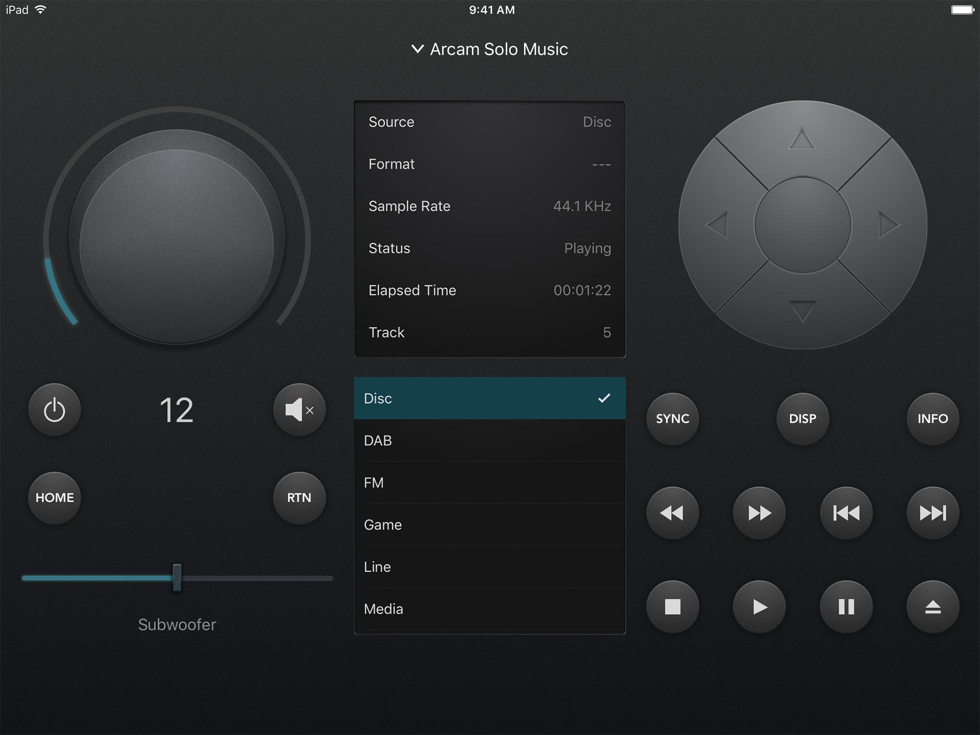 С виртуальной панели приложения MusicLife можно полноценно управлять работой компонентов Arcam