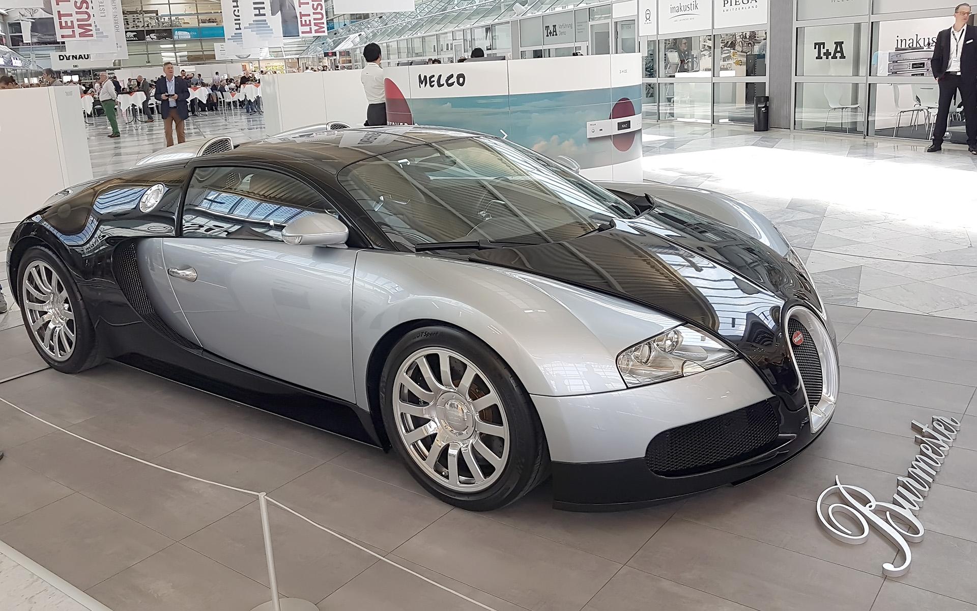 Bugatti с аудиосистемой от Burmester