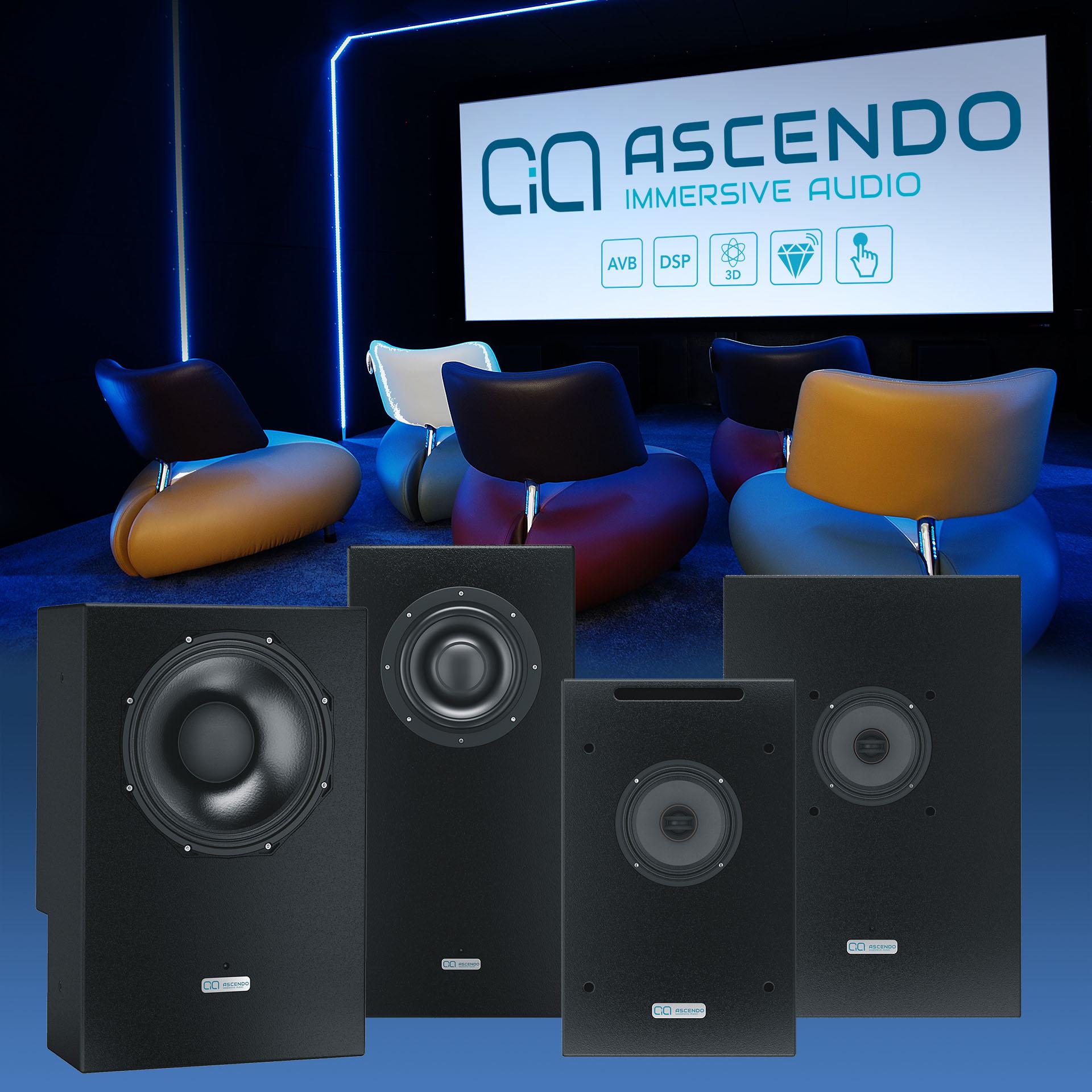 Решения от Ascendo: впервые акустические системы, предназначенные для домашнего использования, обладают всеми качествами профессиональной акустики