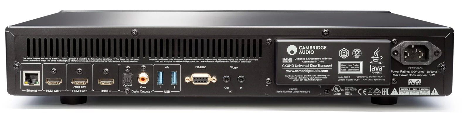4K-плеер Cambrige Audio CXUHD - задняя панель