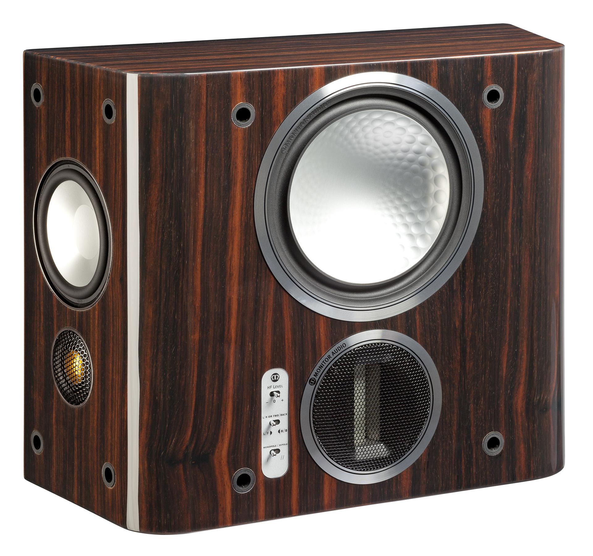 Эксклюзивная отделка Piano Ebony делает Monitor Audio Gold FX ещё более привлекательными