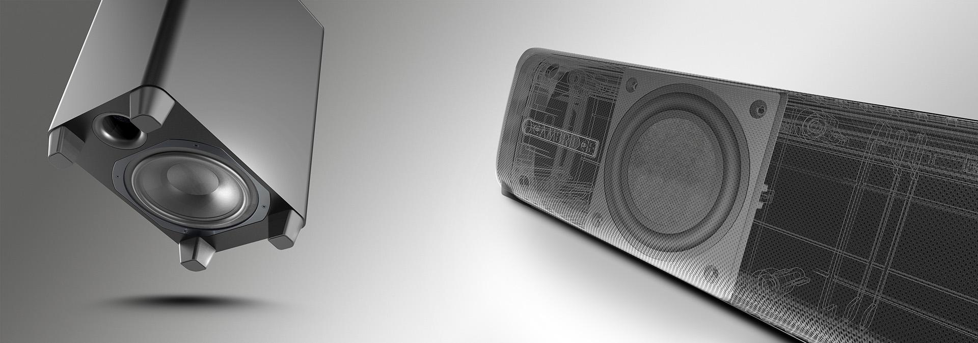 В конструкции Cambridge Audio TVB2 использованы эффективные BMR-динамики