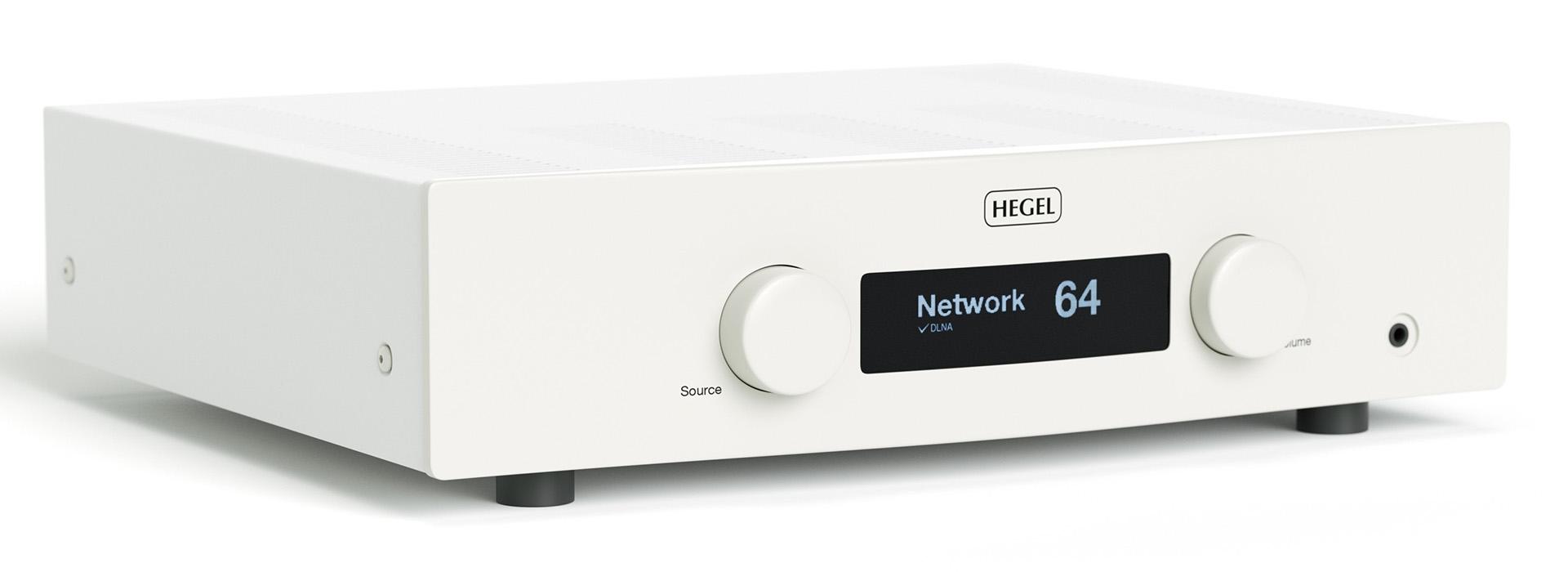 Hegel H190 поставляется в корпусе чёрного или белого цвета