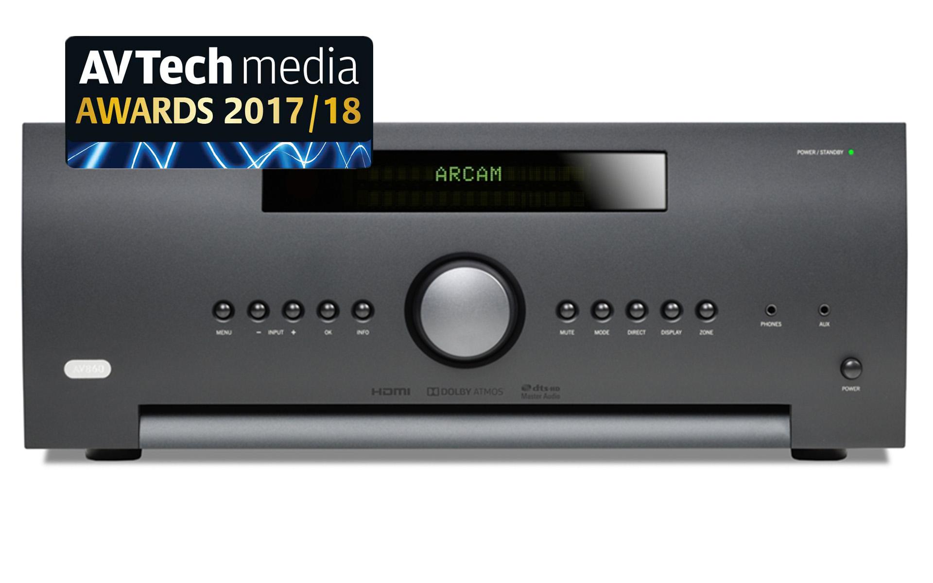 AV-процессор Arcam AV860 с технологией Dolby ATMOS
