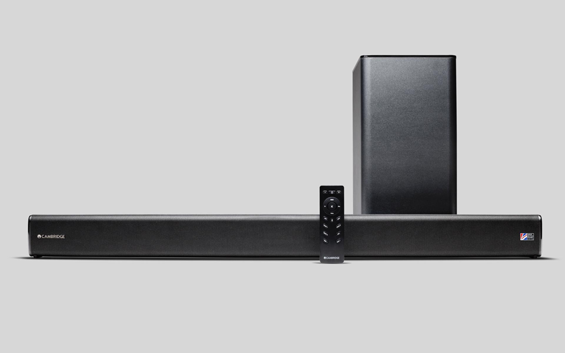В комплекте поставки Cambridge Audio TVB2 (V2) – беспроводной сабвуфер и пульт дистанционного управления