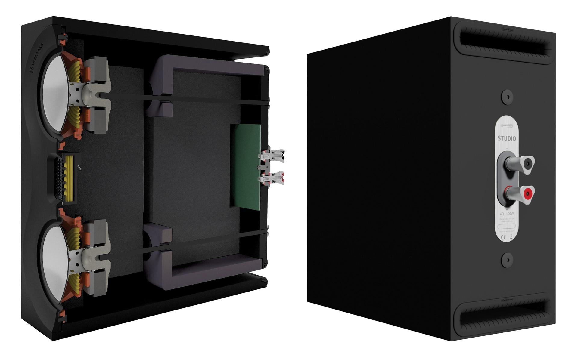 Компактный корпус оснащён парой массивных клемм с родиевым покрытием