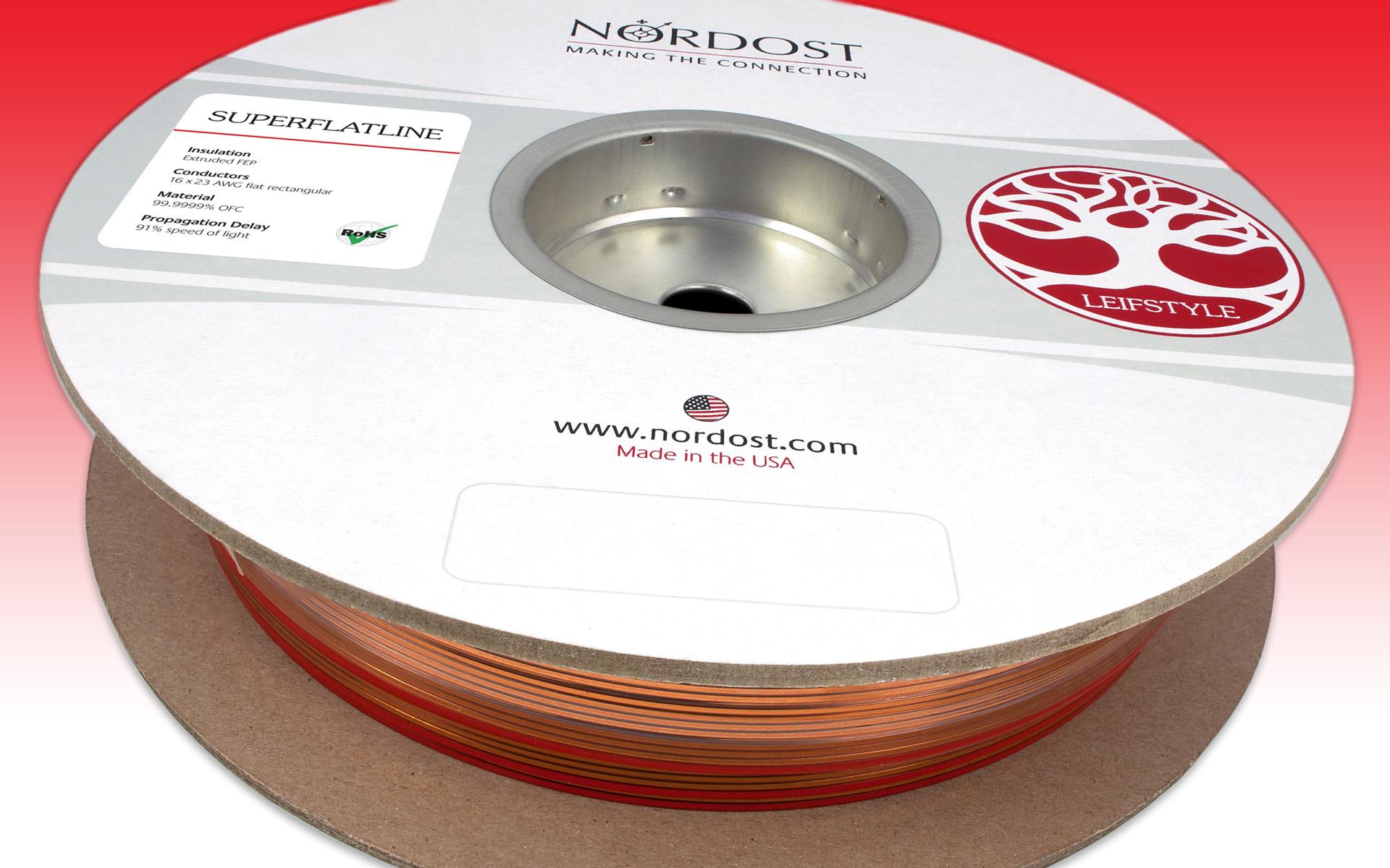 NORDOST Superflatline поставляется на катушках по 25 или 50 м