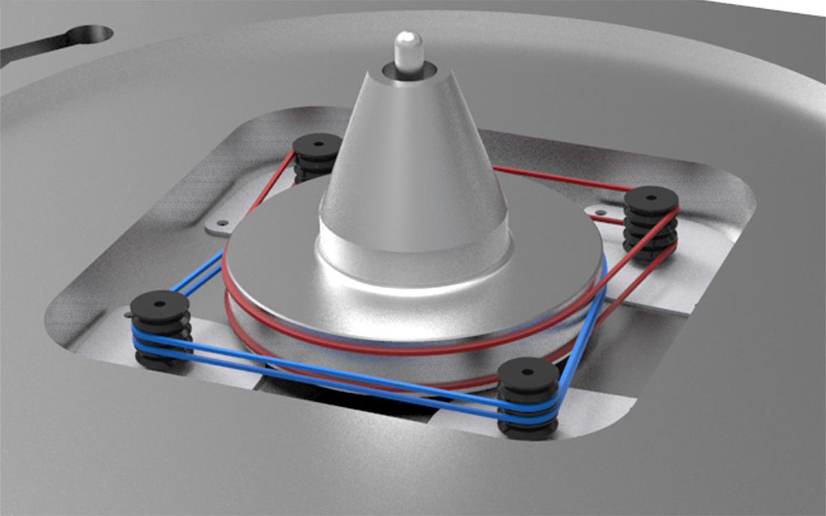 Четыре мотора обеспечивают надёжность и равномерность распределения давления на подшипник
