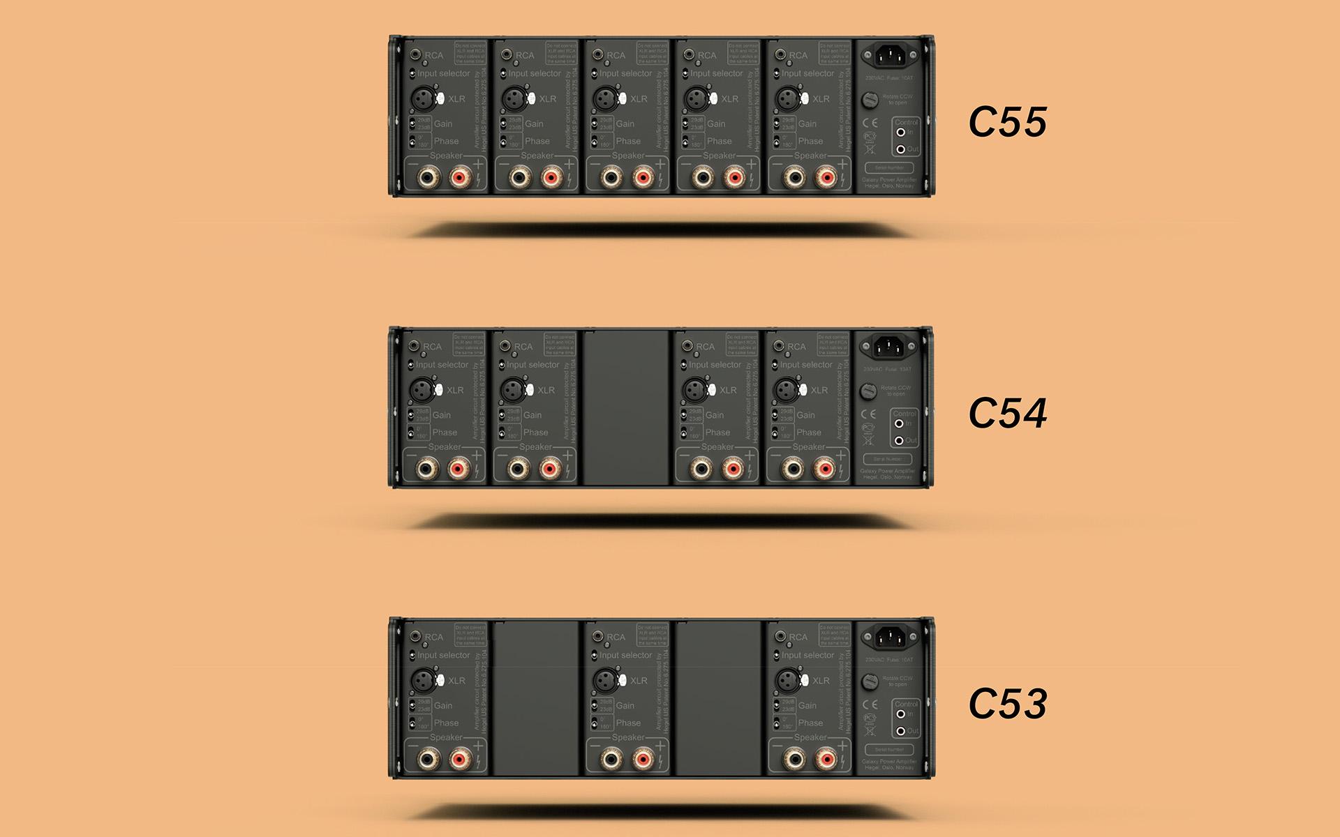 Модульная конструкция многоканальных усилителей серии Hegel C5