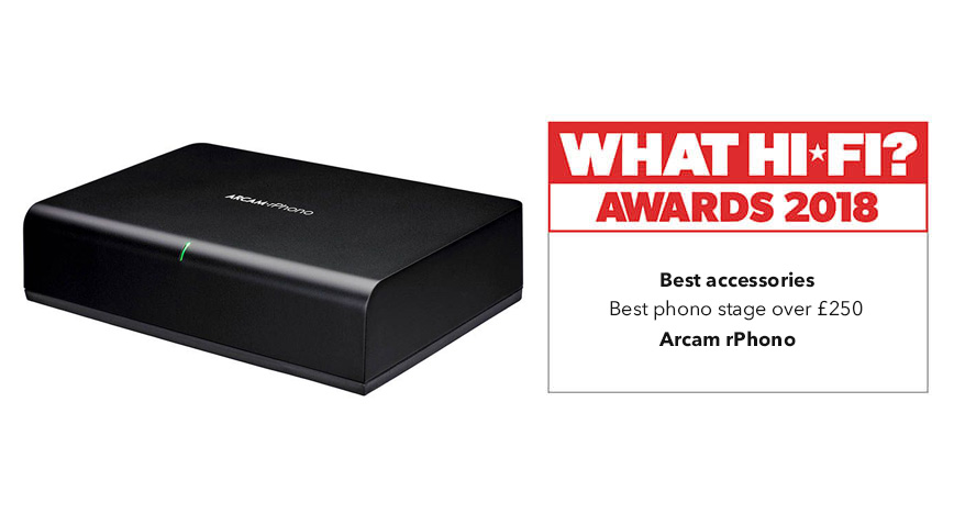 What Hi-Fi? Awards 2018 – Arcam rPhono