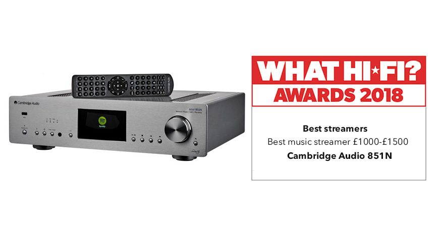 What Hi-Fi? Awards 2018 – Cambridge Audio 851N