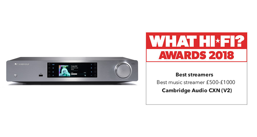 What Hi-Fi? Awards 2018 – Cambridge Audio CXN v2