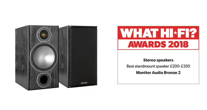 What Hi-Fi? Awards 2018 – Monitor Audio Bronze 2