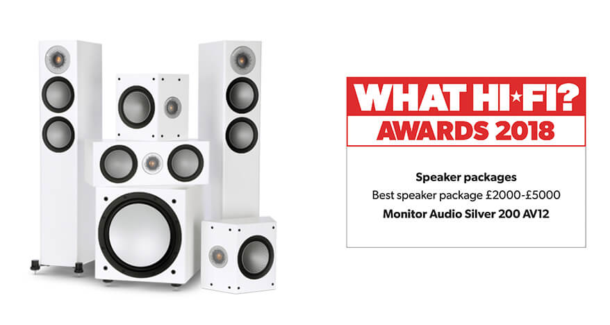What Hi-Fi? Awards 2018 – Monitor Audio Silver 200 AV12