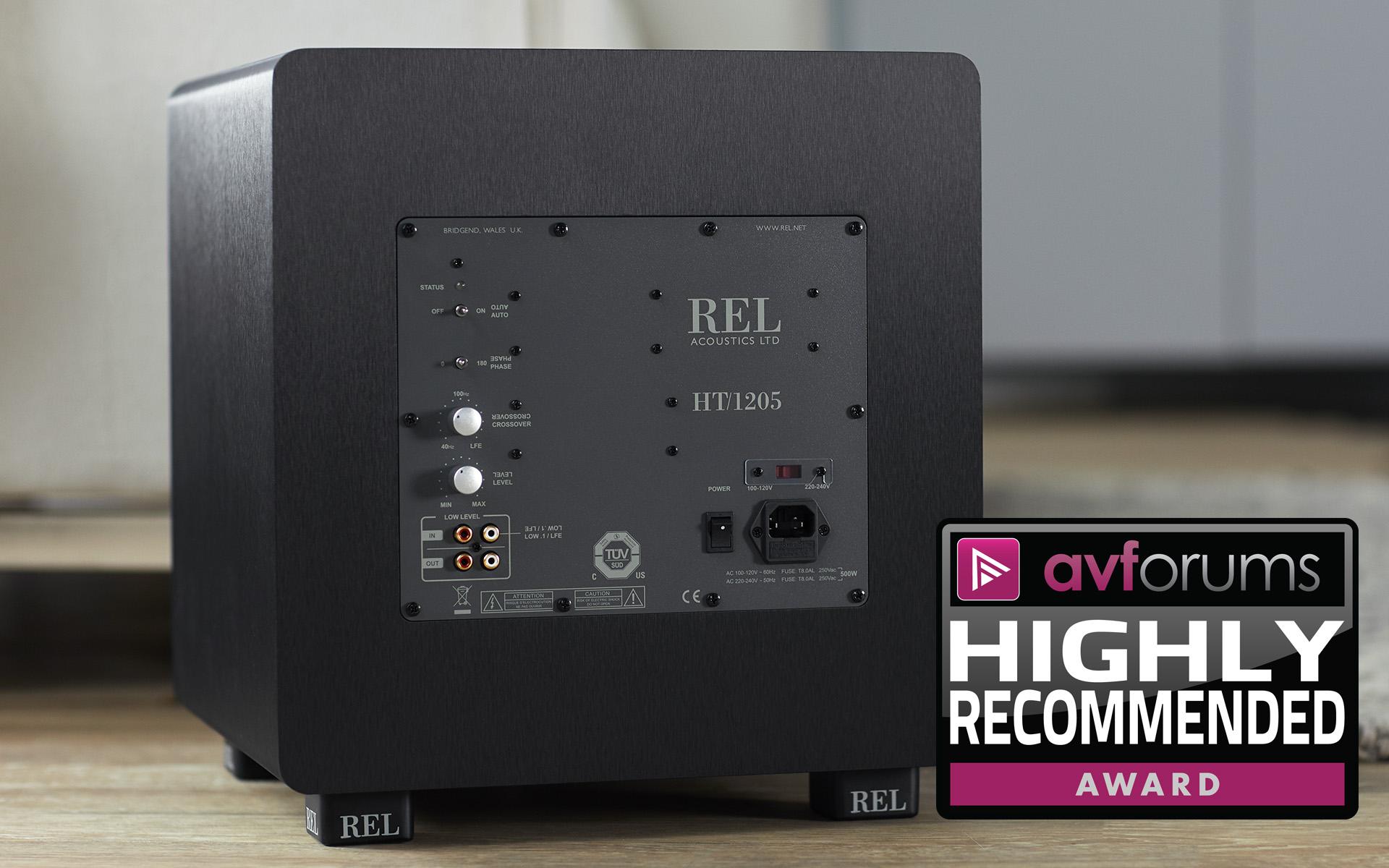 REL HT/1205: AVforums настоятельно рекомендует