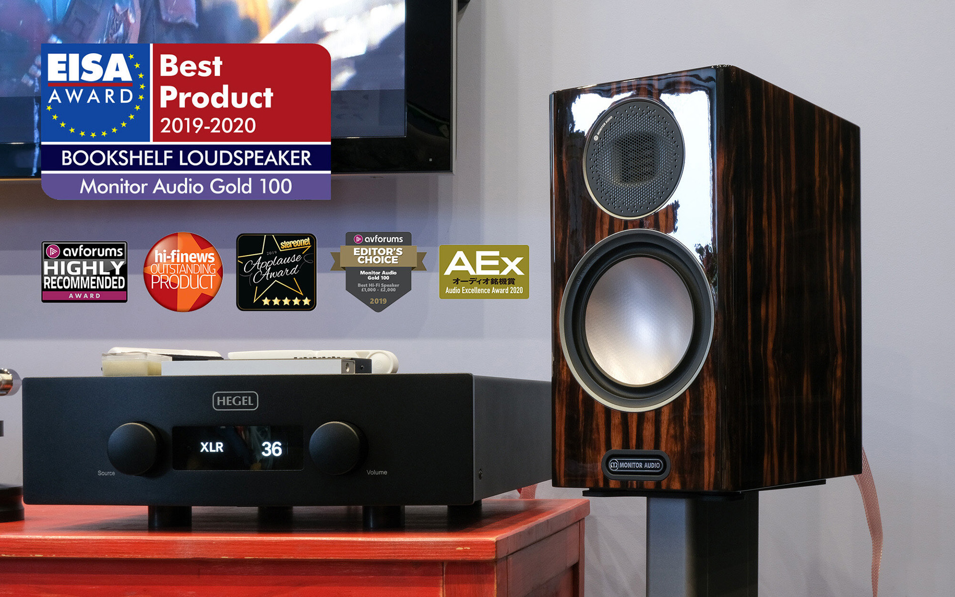 Фирменная ДНК Monitor Audio в конструкции лучших в мире полочных колонок Gold 100