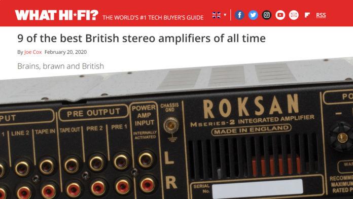 Arcam и Roksan – в числе девяти лучших британских интегральных усилителей всех времён